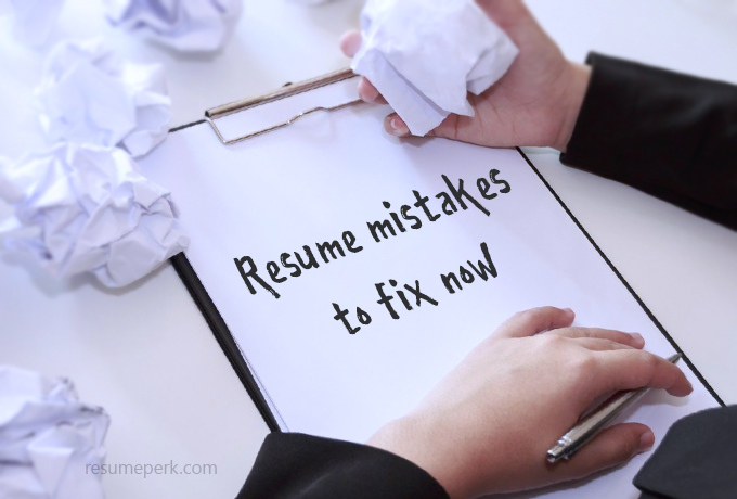 Mistakes in Resume Writing