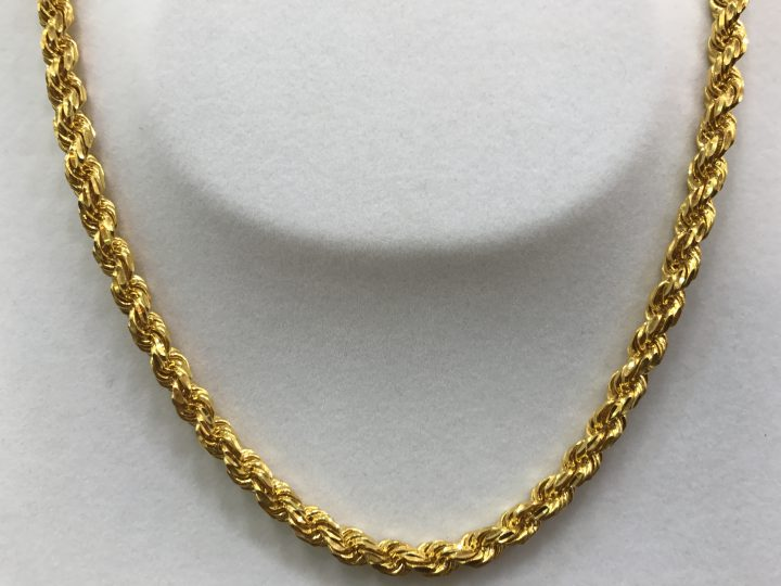men gold chain 9 carat