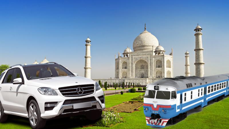 same day agra tour by car vs train