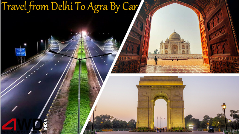 delhi to agra by car