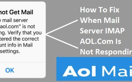 the Mail Server IMAP AOL.Com Is Not Responding